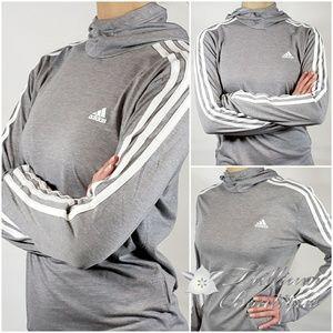 NEW! Adidas Light Gray Ladies Jersey Hoody